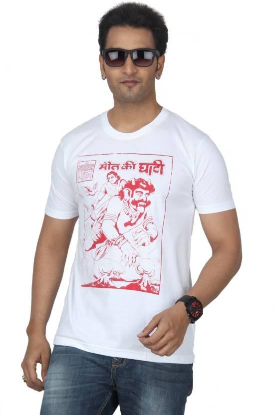 Bandarwalla Graphic Print Men's Round Neck White T-Shirt - Buy White
