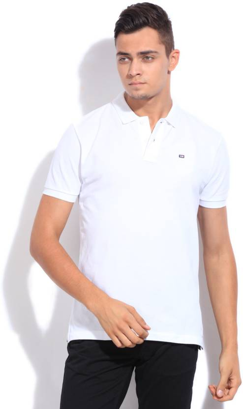 5643186f Arrow Sport Solid Men's Polo Neck White T-Shirt - Buy White Arrow Sport  Solid Men's Polo Neck White T-Shirt Online at Best Prices in India |  Flipkart.com