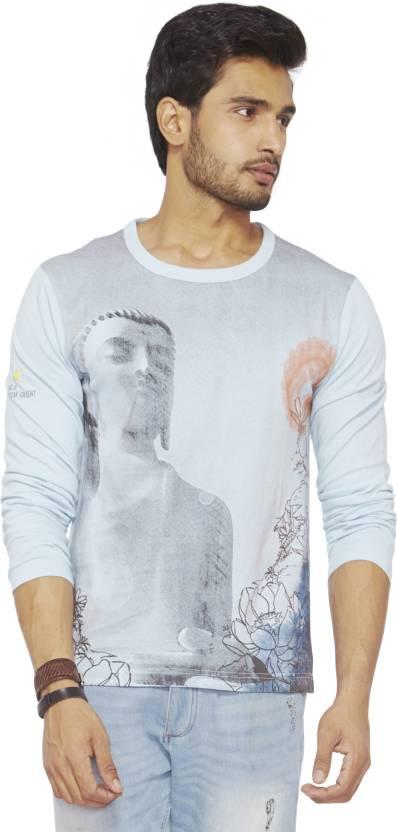 825aa1fa3a5 Do U Speak Green Printed Men s Round Neck Blue T-Shirt - Buy Winter ...