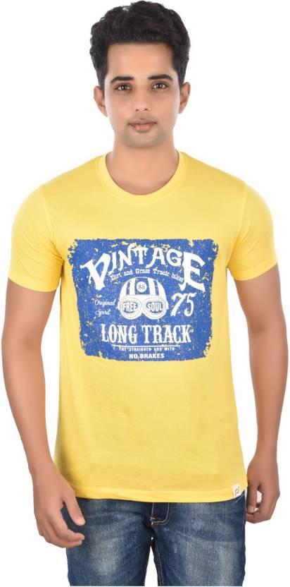 15e72ff32e4 Rockstar Jeans Graphic Print Men s Round Neck Yellow T-Shirt - Buy  Refreshing Yellow Rockstar Jeans Graphic Print Men s Round Neck Yellow T- Shirt Online at ...