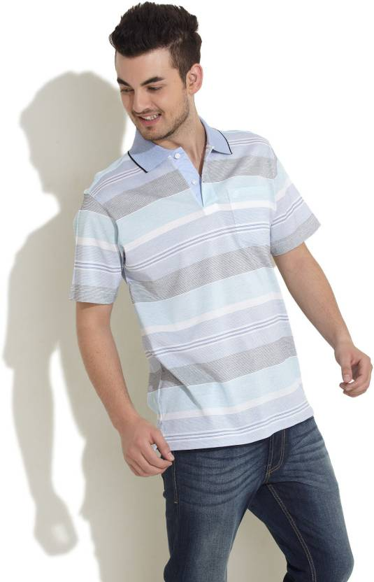 c3299e98 Cotstyle Striped Men's Polo Neck Multicolor T-Shirt - Buy Multi Colour  Cotstyle Striped Men's Polo Neck Multicolor T-Shirt Online at Best Prices in  India ...