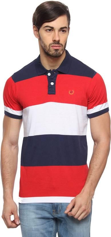 388ec650451 Rockstar Jeans Solid Men s Flap Collar Neck Multicolor T-Shirt - Buy ...