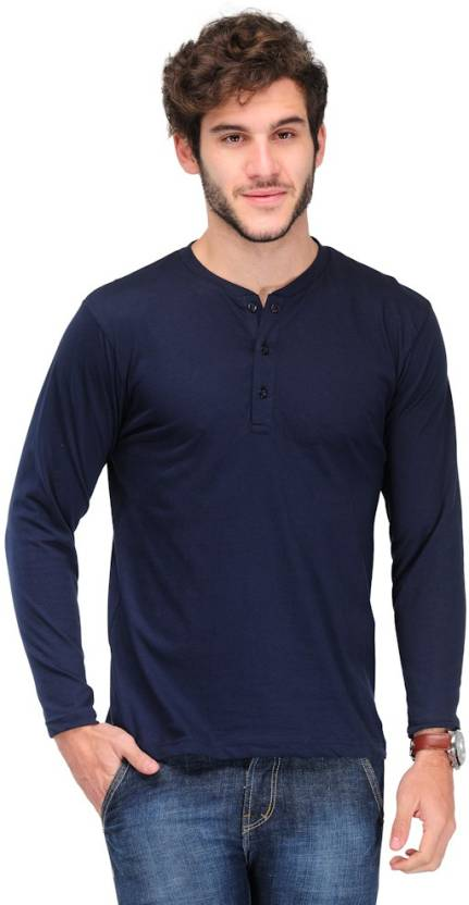 8e17383b89 TSX Solid Men s Henley Dark Blue T-Shirt - Buy Dark Blue TSX Solid Men s  Henley Dark Blue T-Shirt Online at Best Prices in India
