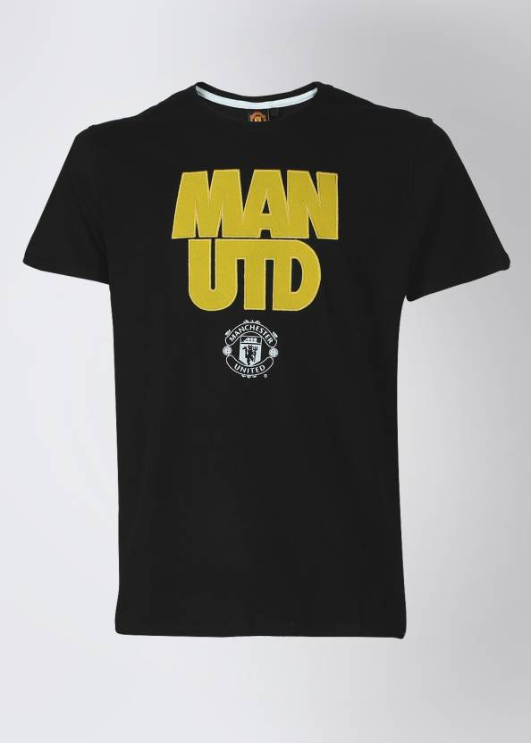 best sneakers d79bb 6d327 Manchester United Printed Men's Round Neck Black T-Shirt ...