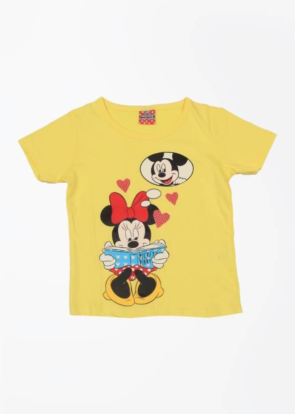 afe5718a4e90 Disney Princess Girls Printed T Shirt Price in India - Buy Disney ...