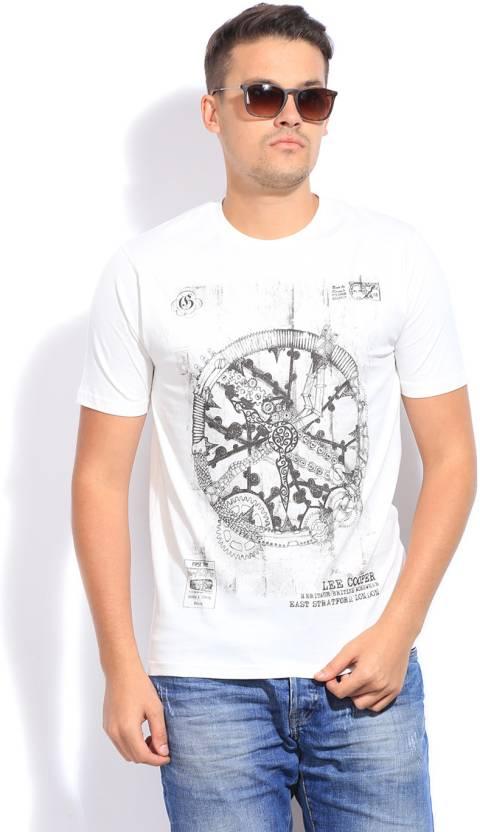 8b7cb424 Lee Cooper Printed Men's Round Neck White T-Shirt - Buy OFF WHITE ...