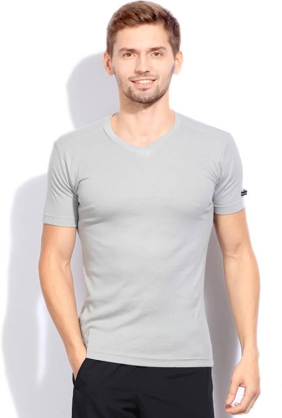 d14b9d9b60118a Macroman Solid Men's V-neck Grey T-Shirt - Buy ASSORTED Macroman Solid  Men's V-neck Grey T-Shirt Online at Best Prices in India | Flipkart.com