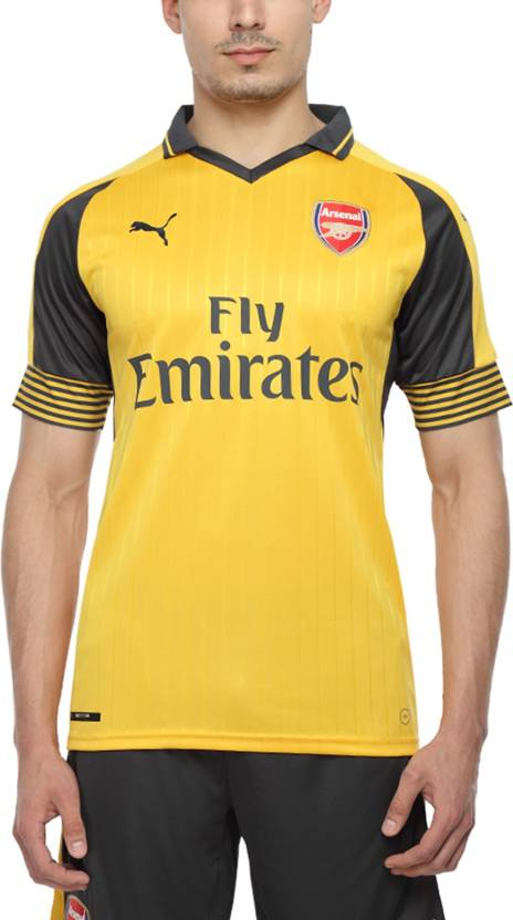 buy popular 418e1 a0784 Puma Arsenal Printed Men's Polo Neck Yellow T-Shirt - Buy ...