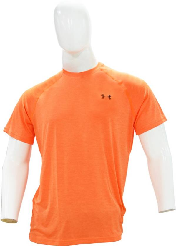 da9ef790 Under Armour Solid Men's Round Neck Orange T-Shirt - Buy Under .