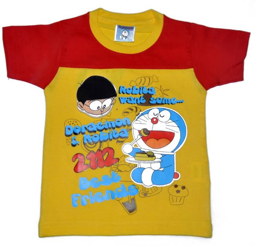 2b6768d2 Doraemon Boys Printed T Shirt Price in India - Buy Doraemon Boys ...