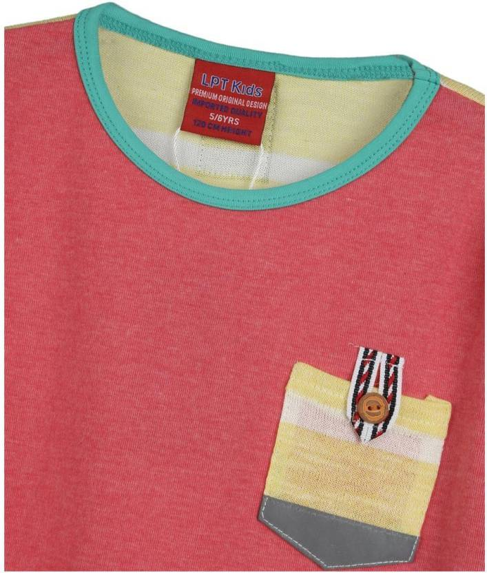 Lilliput Boys Solid T Shirt(Multicolor, Pack of 1)