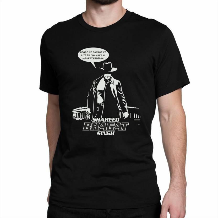 723314eaf IRONGRIT Printed Men's Round Neck Black T-Shirt - Buy IRONGRIT Printed  Men's Round Neck Black T-Shirt Online at Best Prices in India | Flipkart.com