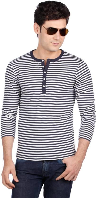 Esprit Striped Men's Round Neck Blue, White T-Shirt - Buy Off White, Blue Esprit Striped Men's Round Neck Blue, White T-Shirt Online at Best Prices in India ...