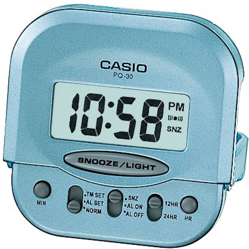 Casio Digital Light Blue Clock
