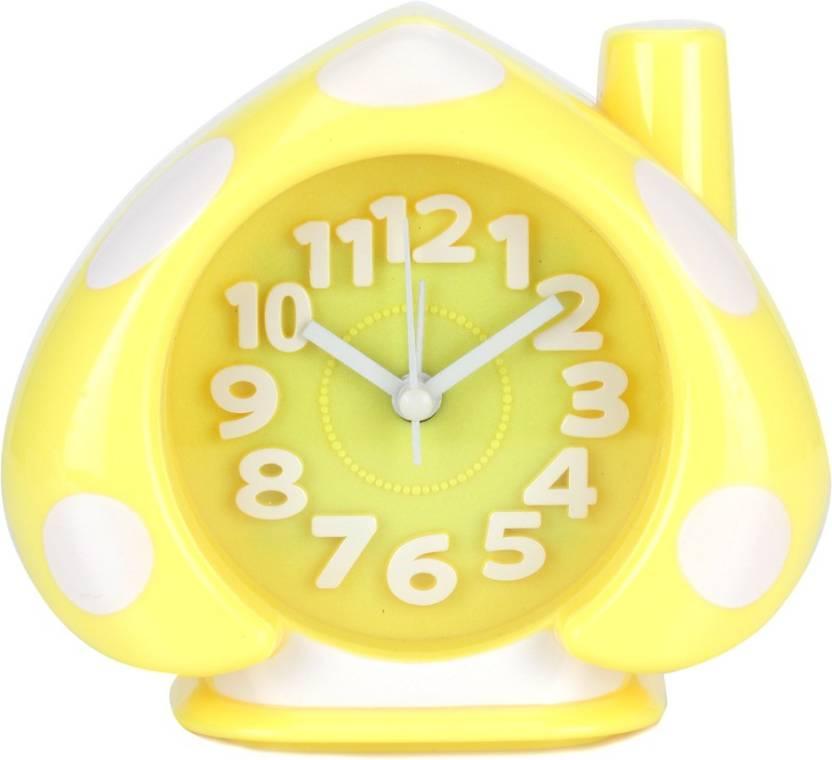 Design O Vista Analog White, Yellow Clock