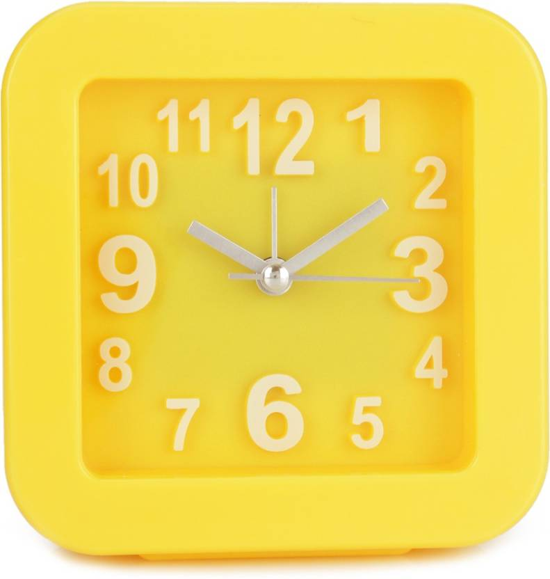 Design O Vista Analog Yellow Clock