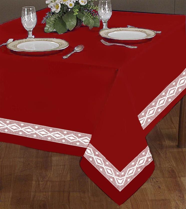 Flipkart & Airwill Self Design 2 Seater Table Cover