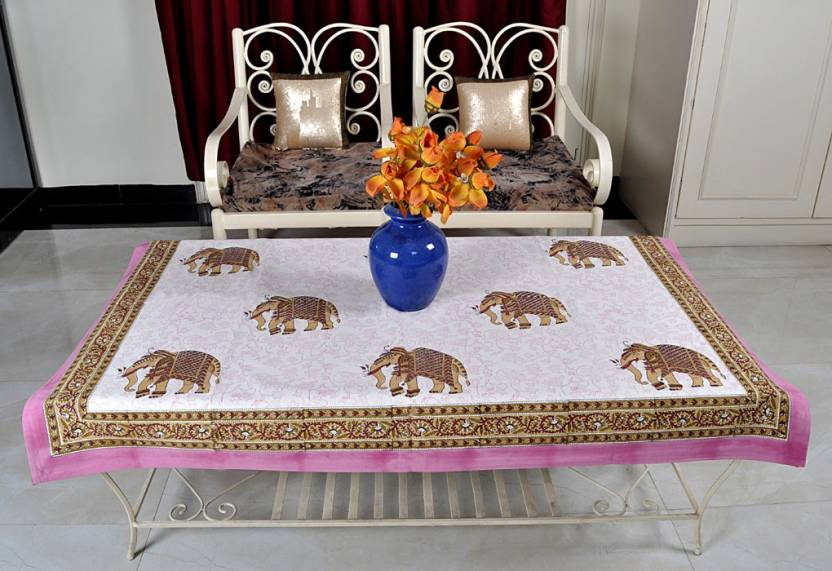 Lal Haveli Animal 4 Seater Table Cover Multicolor, Cotton