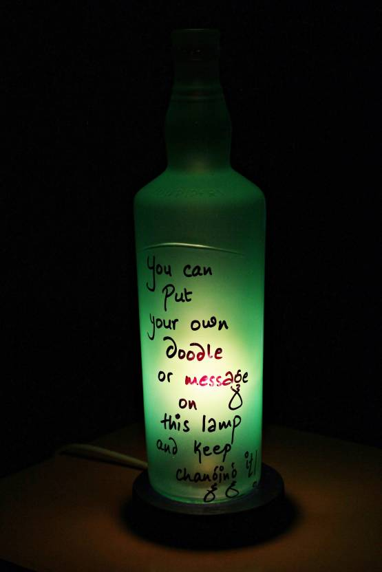 Kavi The Poetry Art Project Green Diy Table Lamp 30 48 Cm