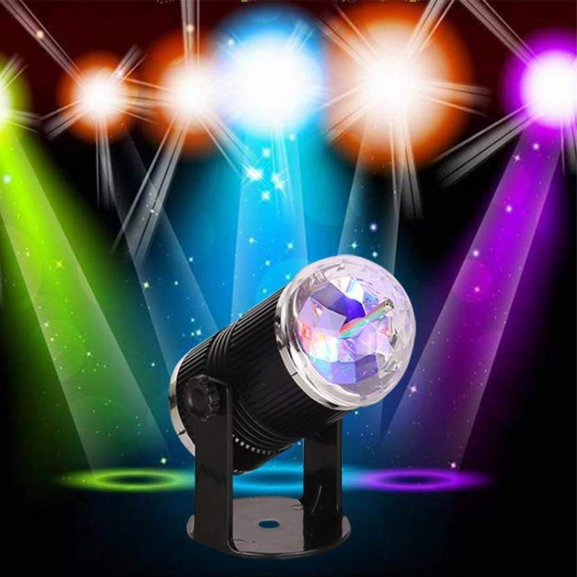 a to z traders rotating focus spot led light dj party disco home