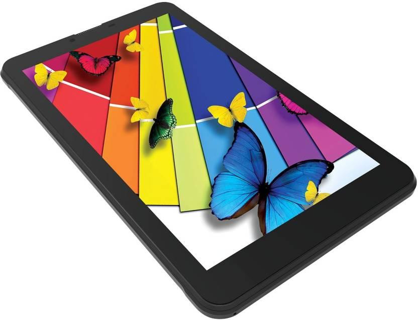 Intex iBuddy 7DD01 8  GB 7 inch with Wi Fi+3G Tablet  Black  Intex Tablets with Call Facility