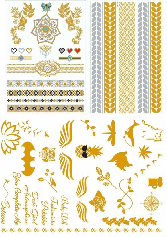 94ad14197ccb7 Flash Tattoo India Flash Tattoo India Gold Tattoo henna Tattoos (Gold tattoo,  tattoo, temporary tattoo, henna tattoo)