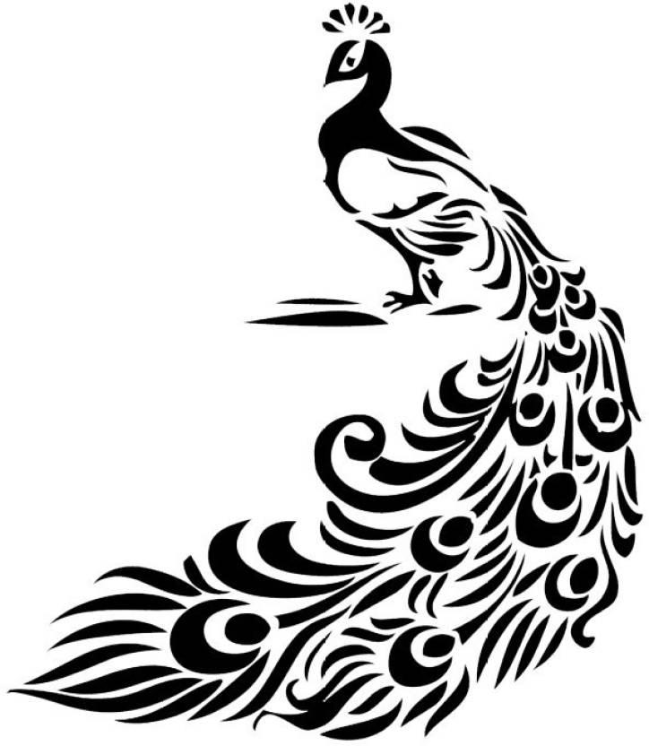 Smilendeal T2144 Peacock Temp Body Tattoo Black Price In