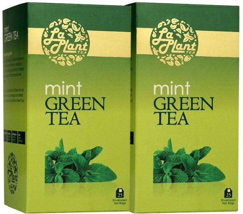 LaPlant Mint - 50 Bags (Pack of 2) Mint Green Tea