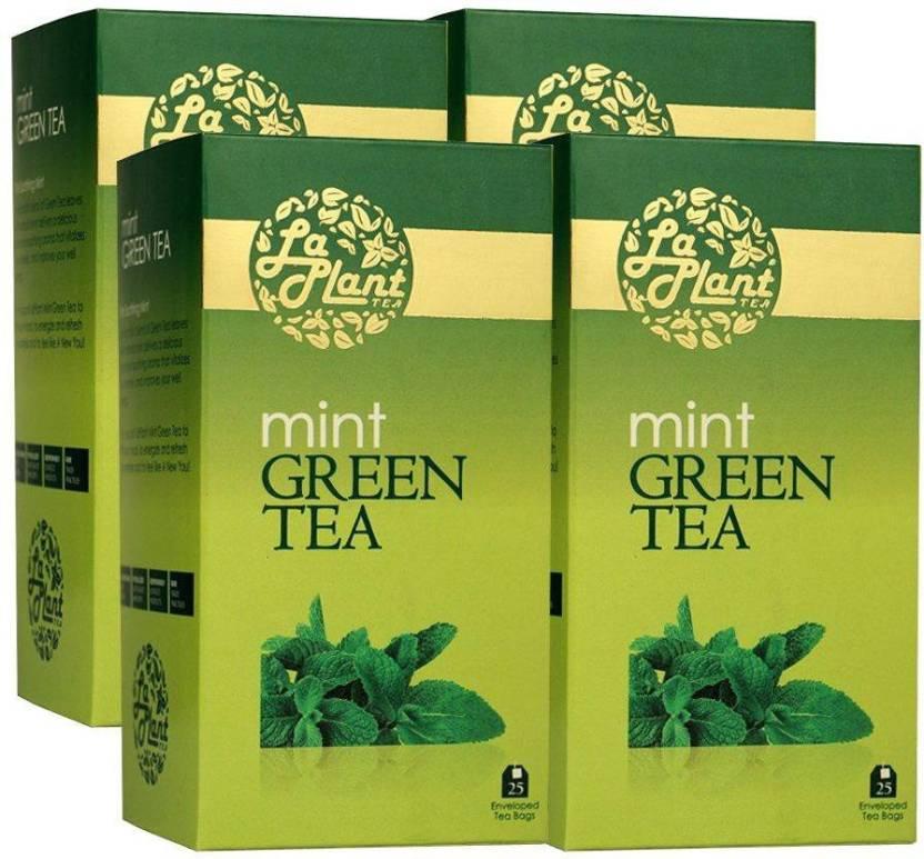 LaPlant Mint - 100 Bags (Pack of 4) Mint Green Tea