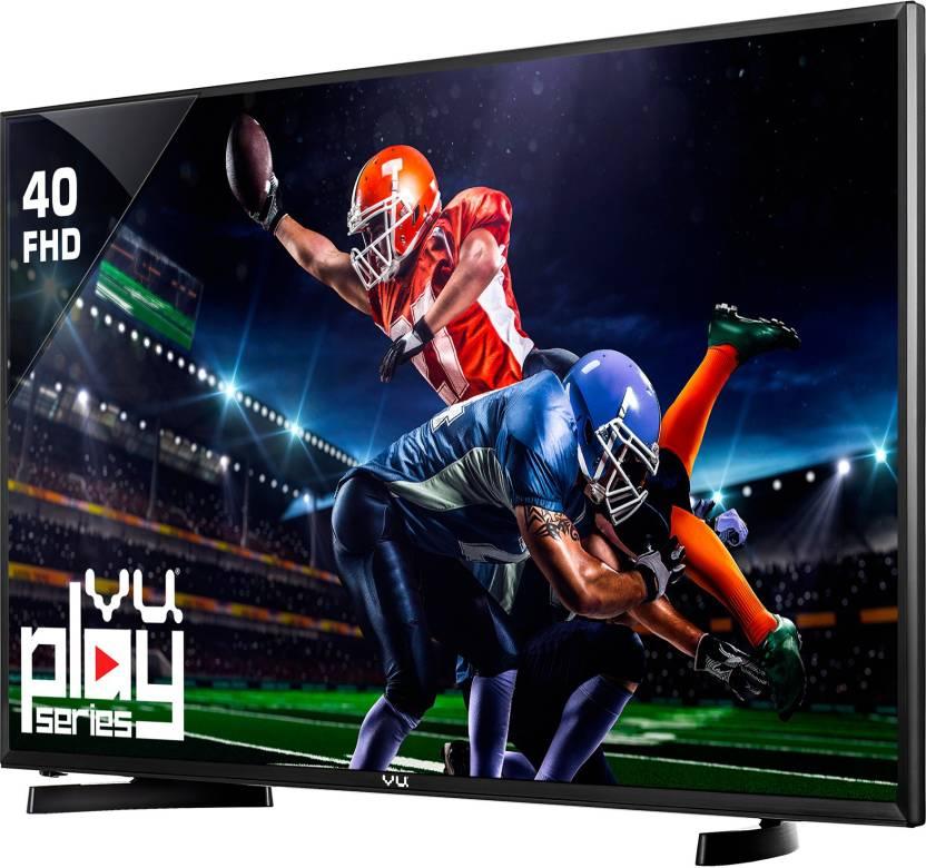 Vu 102cm (40) Full HD TV - Just Rs.19,990 + Up to Rs.10,000 off on exchange By Flipkart | Vu 102cm (40) Full HD LED TV  (40D6575, 2 x HDMI, 1 x USB) @ Rs.19,989