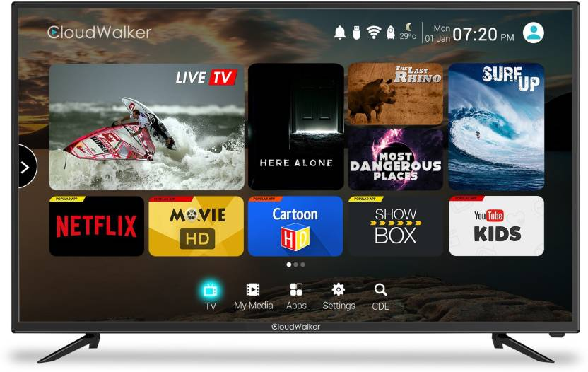 CloudWalker Cloud TV 109cm (43 inch) Full HD LED Smart TV