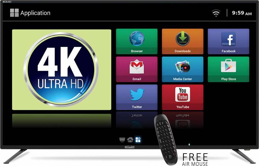 Mitashi 123.19cm (49) Ultra HD (4K) Smart LED TV