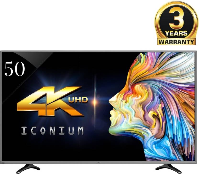 Vu TV`s No Cost EMI!! Upto 30% off On Vu TV`s By Flipkart | Vu 127cm (50) Ultra HD (4K) Smart LED TV  (LEDN50K310X3D, 4 x HDMI, 3 x USB) @ Rs.45,990