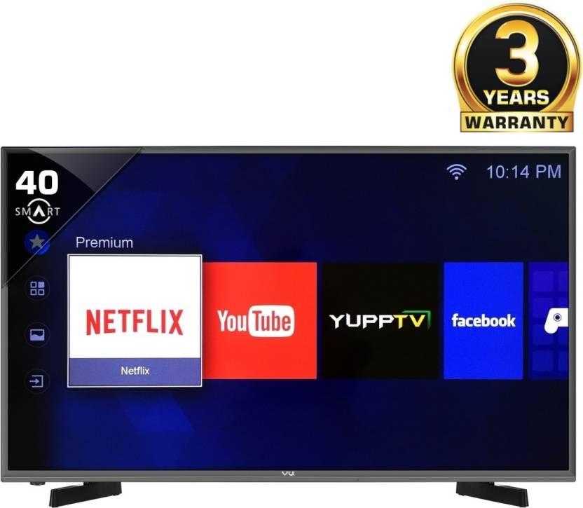 Vu 102cm (40) Full HD Smart LED TV  (H40K311, 2 x HDMI, 2 x USB) By  Flipkart @ Rs.25,990