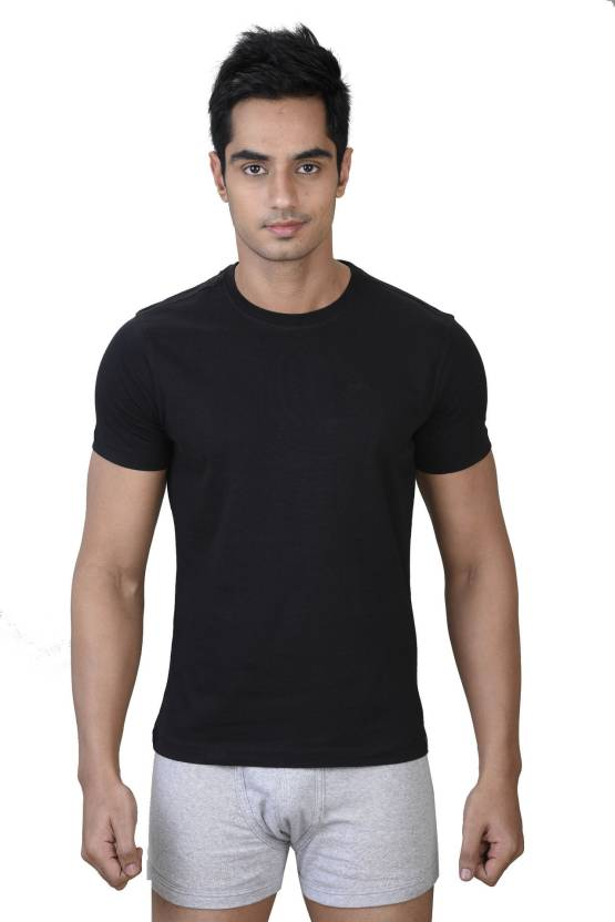 31eb77a7 Park Avenue Round Neck Comfort Fit T-Shirt Men's Top - Buy Black ...
