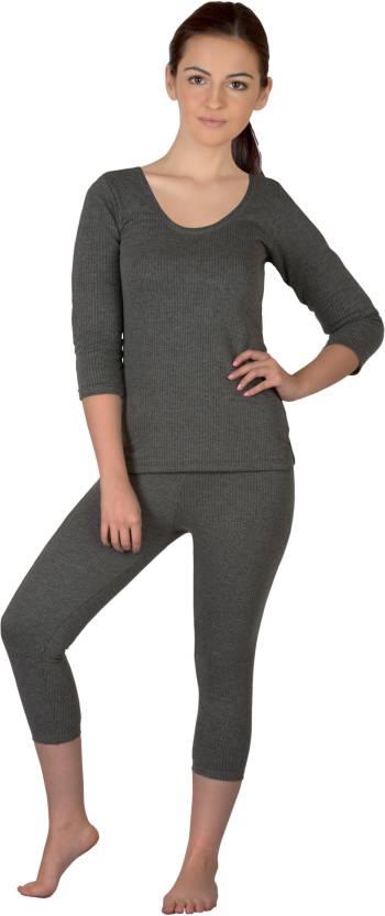 Selfcare Top - Pyjama Set For Girls (Grey)