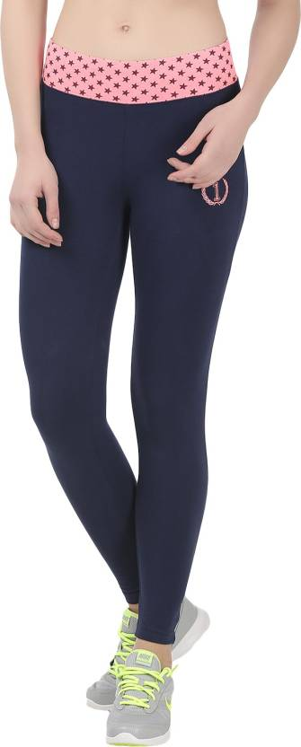 7a5035ba611 Onesport Solid Women s Dark Blue Tights - Buy Navy Blue Onesport ...