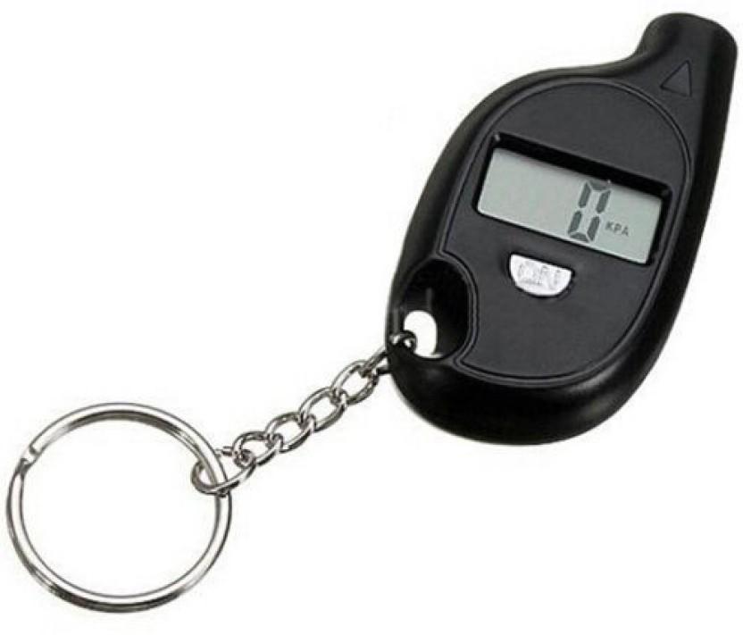 NEW Black Car Auto LCD Digital Tyre Tire Pressure Gauge Keychain