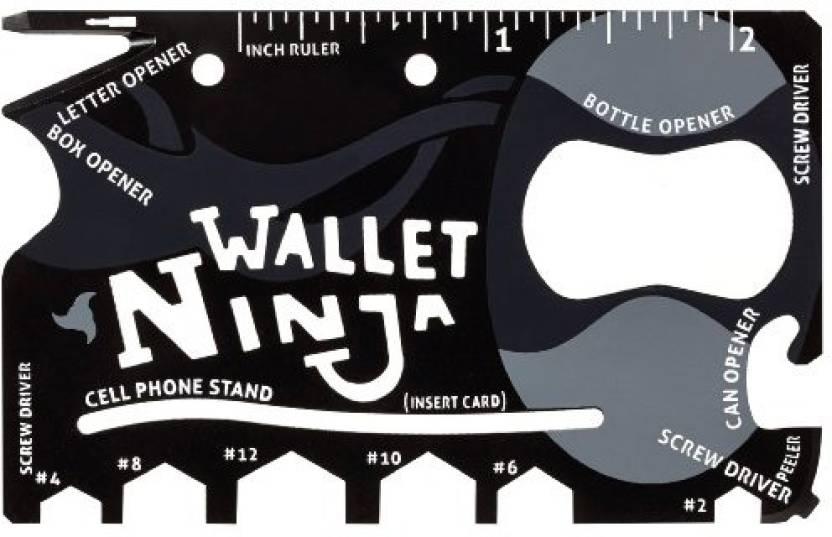 radius Wallet Ninja Camping & Hiking multi tool kit