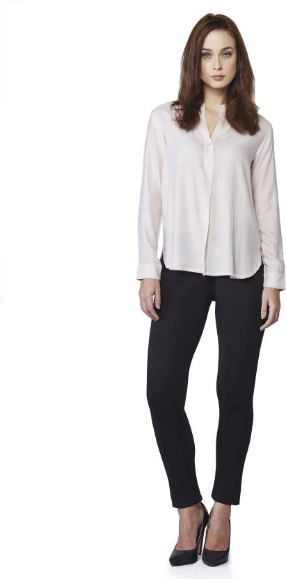 AND Casual Full Sleeve Solid Women's White Top