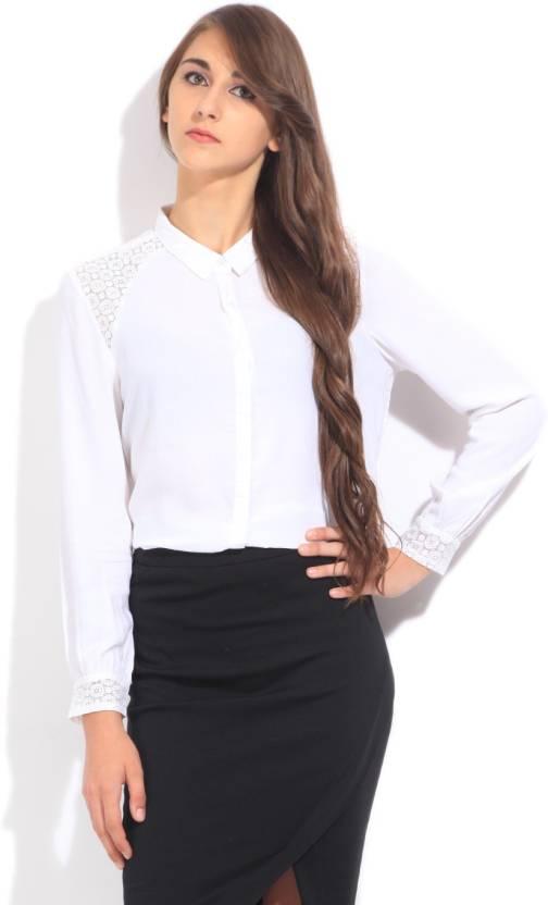 a9ac2d8cc9d709 Arrow Casual Full Sleeve Solid Women's White Top - Buy Off white Arrow  Casual Full Sleeve Solid Women's White Top Online at Best Prices in India |  Flipkart. ...