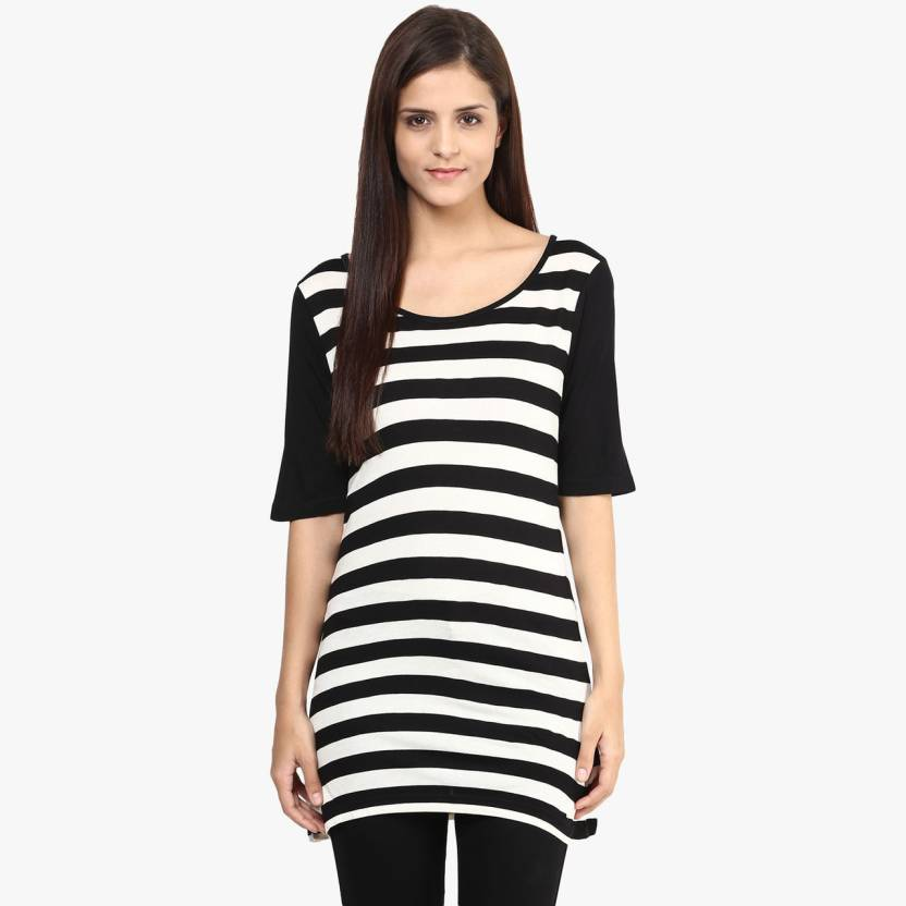 1c55e29f28f1 Annabelle by Pantaloons Formal Short Sleeve Striped Women s Black Top - Buy  Black Annabelle by Pantaloons Formal Short Sleeve Striped Women s Black Top  ...