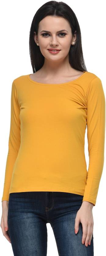 c4db08942b86 Frenchtrendz Casual Full Sleeve Solid Women's Yellow Top. ADD TO CART. BUY  NOW
