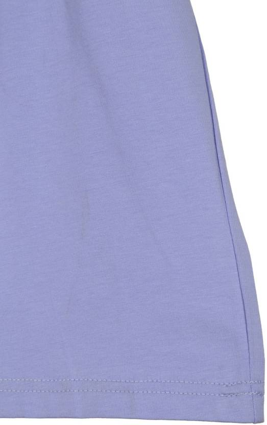 Lilliput Girls Casual Cotton Top(Purple, Pack of 1)