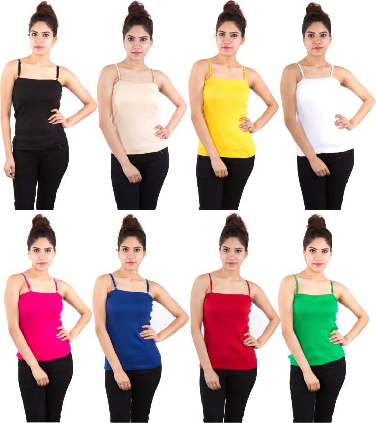 Piftif Beach Wear Sleeveless Solid Womens Multicolor Top