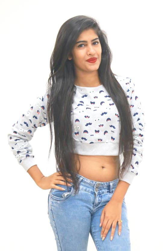 a50b98e191ede VINKED Casual Full Sleeve Printed Women s Multicolor Top - Buy Grey VINKED  Casual Full Sleeve Printed Women s Multicolor Top Online at Best Prices in  India ...