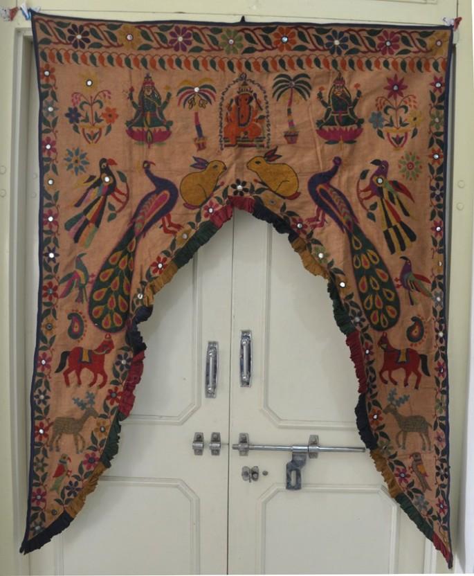 Door hanging door toran decor window valance floral work embroider toran ethnic