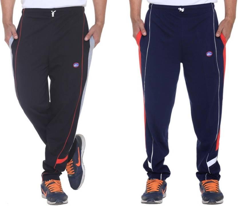 Vimal Solid Mens Black, Blue Track Pants