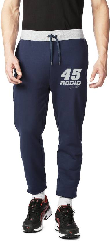 Rodid Solid Men's Blue Track Pants