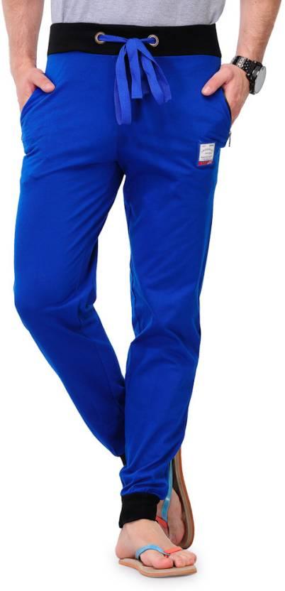 TSX Solid Men's Blue Track Pants